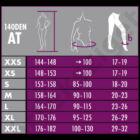 Maxis Relax 140 den-es kompressziós harisnyanadrág 18-21 Hgmm, AT, nero, XXL