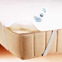 Vízhatlan sarokpántos antiallergén ágyvédő frottírlepedő, Sabata, 90x200 cm