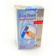 Koleszterin tesztcsík Wellmed EasyTouch GC, GCU és GCHB készülékhez, 10db.