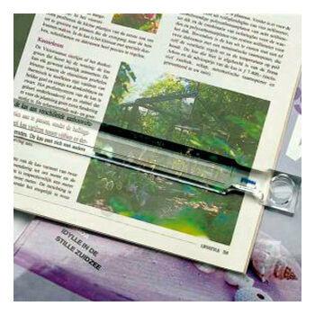 Olvasóléc (sorolvasó nagyító), 2,5x nagyítás, 160 x 25mm