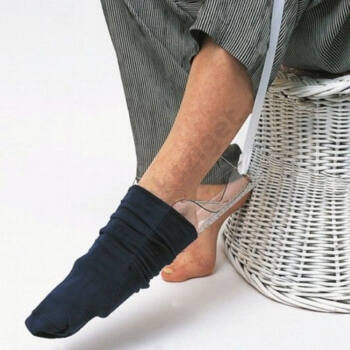 Merev zoknifelhúzó zsinórral