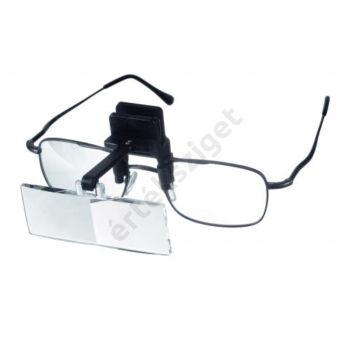 Szemüvegre csíptethető nagyító 2,35x (binokuláris előtétnagyító)
