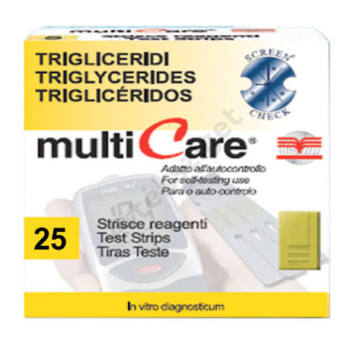 Multicare IN triglicerid tesztcsík 25 db.