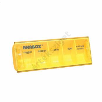Napi gyógyszeradagoló, 5 rekesz naponta (Anabox), sárga