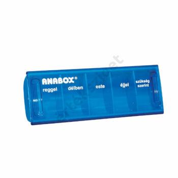 Napi gyógyszeradagoló, 5 rekesz naponta (Anabox), kék
