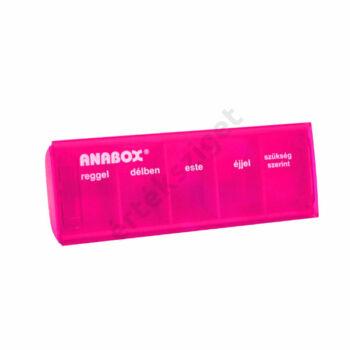 Napi gyógyszeradagoló, 5 rekesz naponta (Anabox), pink