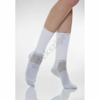 Relaxsan gumírozás nélküli ezüstszálas bokazokni cukorbetegeknek is (X-Static, 550), fehér, 6