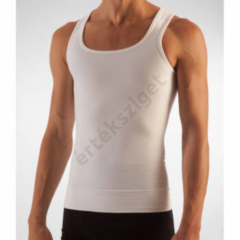 Alakformáló férfi atléta, Farmacell 418, fehér, L