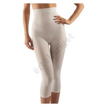 Alakformáló női fitness háromnegyedes nadrág, FarmaCell 123, fehér, L / XL