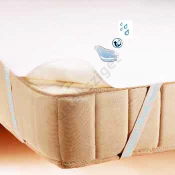 Vízhatlan sarokpántos antiallergén ágyvédő frottírlepedő, Sabata, 80x190 cm