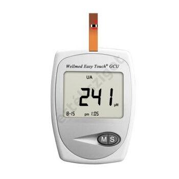 Vércukor, húgysav, koleszterinmérő készülék, Wellmed GCU