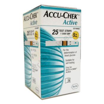 Accu-Chek Active vércukor tesztcsík 25db/doboz