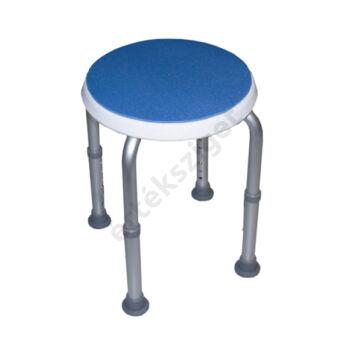 Tusolószék állítható magasságú csúszásmentes felülettel és lábakkal, kerek, kék, Herdegen