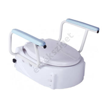Állítható magasságú WC magasító felhajtható karfával, fedéllel (Altia)