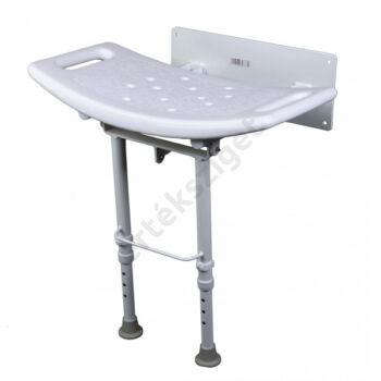 Falra szerelhető felhajtható zuhanyülés állítható lábakkal, Herdegen