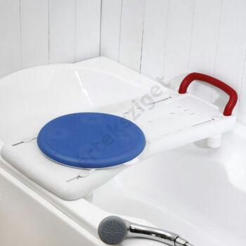 Fürdőkád pad forgókoronggal és kapaszkodóval, 150kg terhelhetőség