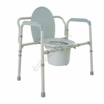 Extra teherbírású szoba wc magasságállítással, összecsukható 300 kg-ig