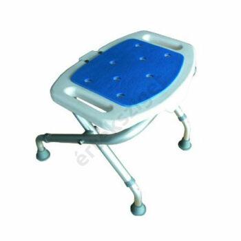 Tusolószék állítható magasságú, csúszásmentes lábakkal és felülettel, összecsukható, kék, Herdegen
