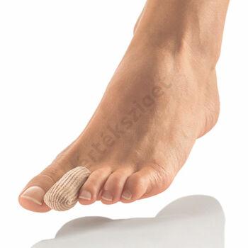 Lábujjvédő gélsapka, vágható textil borítású lábujjsapka gélbetéttel, Bort 137050, S