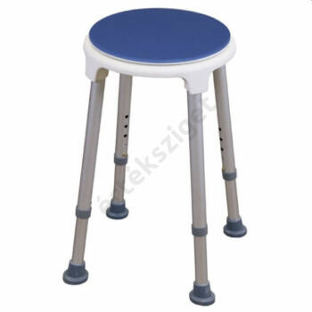 Forgatható tetejű tusolószék, kerek, kék, Herdegen