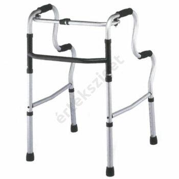 Felállást segítő járókeret 4 markolattal, lépcsőzetes, összecsukható, Rehab