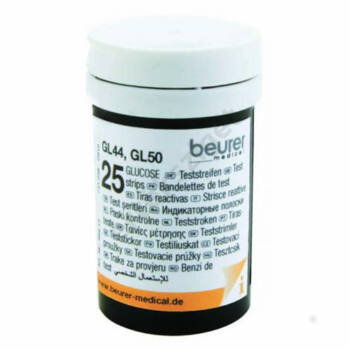 Vércukor tesztcsík Beurer GL44, GL50, GL50 Evo készülékhez, 50 db/doboz