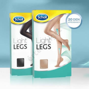 Scholl Light Legs 20 denes kompressziós harisnyanadrág 4-10 Hgmm, fekete S