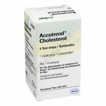 Accutrend Cholesterol tesztcsík 5db/doboz (koleszterin)