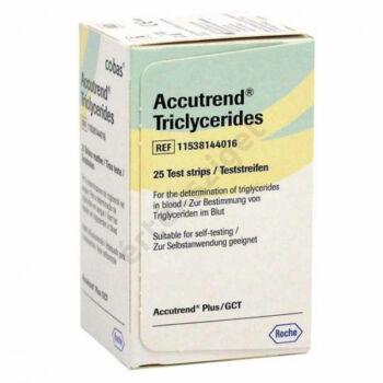 Accutrend Triglyceride tesztcsík 25db/doboz (triglicerid)