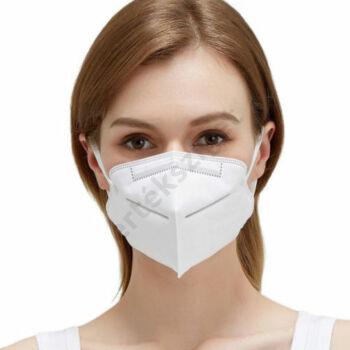 Szájmaszk gumipánttal, influenza ellen, KN95-FFP2 (biológiai szájmaszk)
