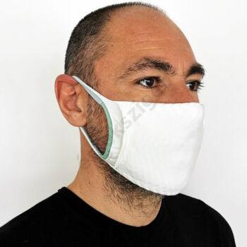 Ezüstionos mosható pamut szájmaszk gumipánttal, 2db