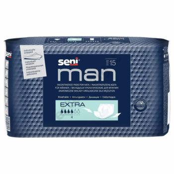 Inkontinencia betét férfiaknak, 400ml, 15db, Seni Man Extra